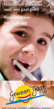 Individuele preventie voor een gaaf gebit. V0or kinderen van 0-18 jaar.